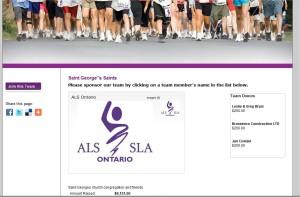 Our Walk For ALS Team Website