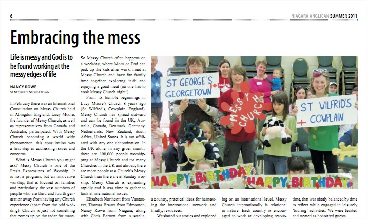 Article from the Summer 2011 Niagara Anglican