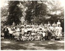 a group photo of the St. George's Church School in 1945